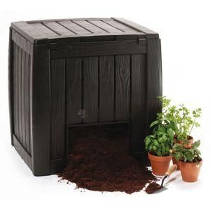 Komposter Deco Keter 340L Komposter mit Sockel dunkelbraun 72x14x73cm
