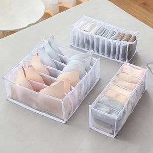 3 stk/set Unterwäsche Aufbewahrungsbox Socken Organizerboxen Geteiltes GitterHeimgebrauch Weiß