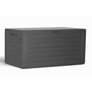 Auflagenbox Kissenbox Polsterauflagen Box Kunststoff Anthrazit 280L