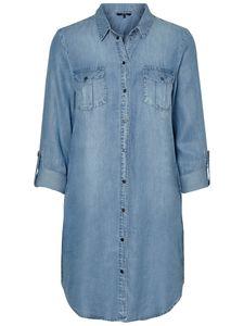 Vero Moda Damen Kleid 10184172 Light Blue Denim