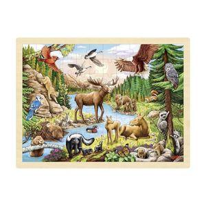 """goki 57409 Einlegepuzzle """"Nordamerikanische Wildnis"""" Holz"""