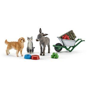 Schleich - Tierfiguren, Fütterung auf dem Bauernhof; 41423