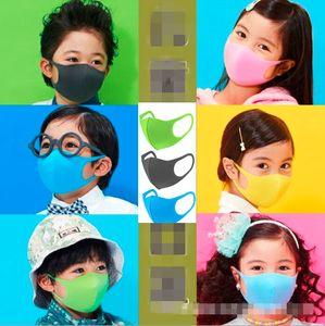 6Stk Atmungsaktiv Kinder Mundmaske Waschbare Gesichtsmaske Jungen Mädchen Schwammmaske Schutz