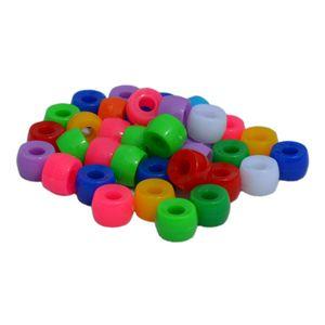 Kongo Perlen 50 Stück 6x9mm zum Auffädeln, schöne satte Farben bunt gemischt