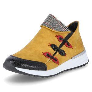 Rieker Damen Sneaker  Synthetikkombination gelb 39