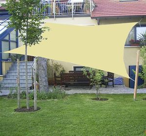 hanSe® Marken Sonnensegel Rechteck 5x6 m Graphit