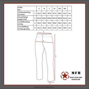 MF HHigh Defence Tactical Hose, Attack, schwarz, Teflon, Rip Stop - XL