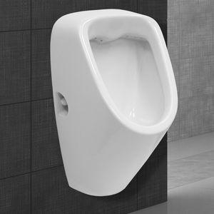 ECD Germany Urinal mit Zulauf von hinten - Ablauf nach hinten - aus Keramik - Wei? - Modernes Design - WC Pissoir Pinkelbecken Urinalbecken Becken