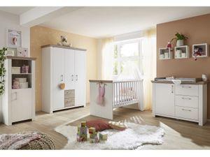 Babyzimmer New York 6 teiliges Megaset in Eiche San Remo