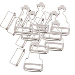 Satz von 6 Latzhose Verschlüsse / Hosenträger Schnallen für Hosenträger 3,2cm silber Schnalle 3,2 cm