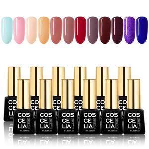 Gel Nagellack 12 Farben Set UV LED Einweichen Nail Art Maniküre Salon DIY Home Geschenkset 8ml