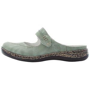 Rieker Damen Pantoletten Clogs 46374, Größe:40 EU, Farbe:Grün