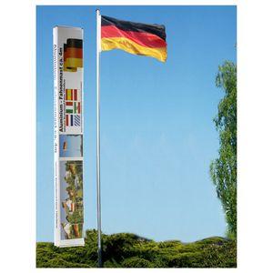 """Fahnenmast """"Deutschland"""", inkl. Deutschlandfahne, 4m hoch, WM, EM"""