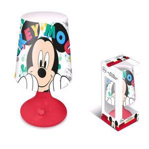 Disney tischlampe Mickey Mouse junior 9 x 18 cm rot/weiss