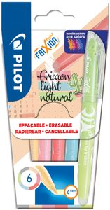 PILOT Textmarker FRIXION light Natural 6er Etui