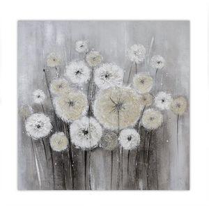 Ölbild Dandelion 100 x 100 cm  Raumgestaltung
