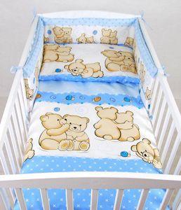 BABYLUX Kinderbettwäsche 2 Tlg. 100 x 135cm Bettwäsche EULE(63. Teddybären Blau)