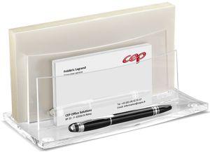 CEP Briefständer ACRYLIGHT 2 Fächer glasklar