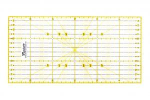 Victor transparentes Lineal 15x30cm in Gelb zum Naehen, Basteln, Patchwork und Quilting - Naehlineal