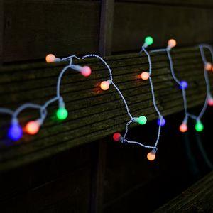 Plaights 50er LED Party Lichterkette für Außen Garten Outdoor Innen in bunt