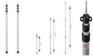 2 Stück Teleskop Zeltstange 93 bis 230 cm Vorzeltstange aus Alu Vor Zelt Stange