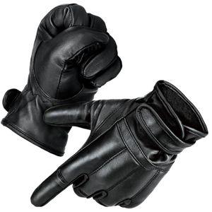 1 Paar Security Quarzsandhandschuhe Defender Einsatzhandschuhe mit warmem Innenfleece Schwarz XXL