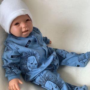Baby Jungen Strampler Schlafanzug Einteiler Gr. 56 Igel