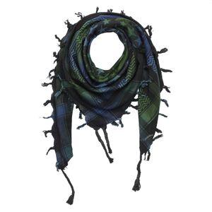 Palituch - Sterne groß & klein schwarz - Tie dye-Batik-bunt 02 - Kufiya PLO Tuch