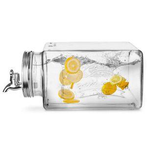 ORION Getränkespender Eimachglas für den KÜHLSCHRANK mit Zapfhahn und Spender