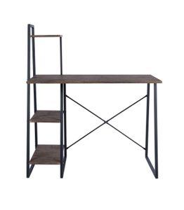 Schreibtisch mit Regal 4 Ebenen Nachbildung Nussbaum