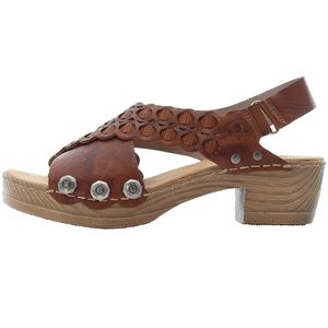 Rieker Damen Sandalen Leder Sandaletten V6889-22, Größe:42 EU, Farbe:Braun