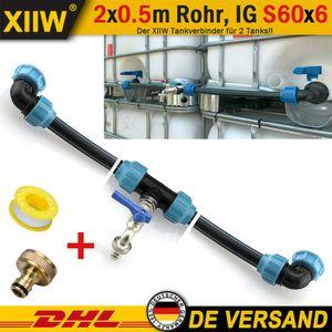XIIW®  IBC Adapter Verbindungsset Für Zwei IBC Regenwassertanks Nebeneinander Neu