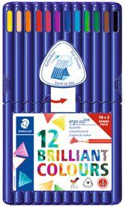STAEDTLER Dreikant-Buntstift ergosoft 10+2 Etui