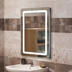 WYCTIN Badspiegel LED Wandspiegel Lichtspiegel Spiegel beleuchtet Touch Spiegel