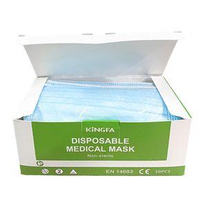 Kingfa Medizinische 3-Layer Maske in Blau 50er Packung Typ II R