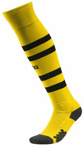 PUMA BVB Hooped Socks CYBER YELLOW-PUMA BLACK 19