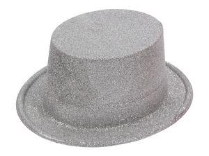 Zylinder Hut  für Karneval , Variante wählen:Glitzer silber
