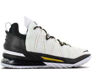 Nike LeBron 18 XVIII - Lakers Home - Herren Basketballschuhe Weiß CQ9283-100 , Größe: EU 45 US 11
