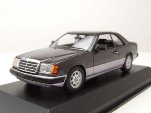 Mercedes 300 CE-24 Coupe C124 1991 lila Modellauto 1:43 Maxichamps