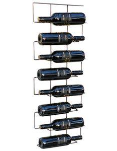DanDiBo Weinregal Flaschenregal Metall Schwarz Schmal 96135 Wand Flaschenständer Flaschenhalter