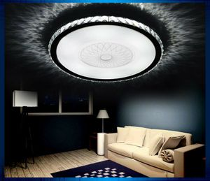 LED Deckenleuchte 2017-520 Kristall klar Ø 52cm inkl.LEDs und Fernbedienung Lichtfarbe/Helligkeit einstellbar 32w [Energieklasse A+]