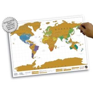 Luckies of London Scratch Map Weltkarte zum Freirubbeln - Scratch off where you've been; LUKSCR