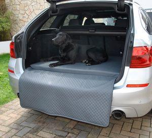 Hundebett Kofferraum Matte Grau XXXL (110x100x5x60cm) Luca Autoschondecke Kunst Leder Autositz Schutzdecke Mayaadi Home