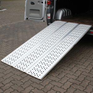 TrutzHolm® Alu Auffahrrampe 215 cm Rampe 3 fach faltbar Verladerampe ATV Breitrampe Motorradrampe