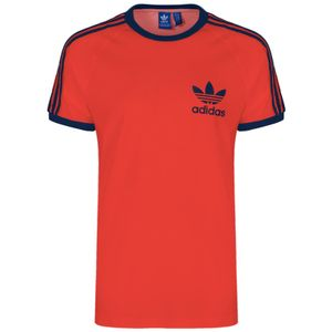adidas Originals 3-Stripes Trefoil T-Shirt rot XL