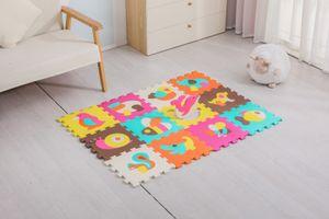 Avior Kids Kinder Puzzlematte Kinderteppich Spiel-Teppich Spielmatte 12-TLG, Wildtier mehrfarbig