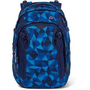 Satch Match Schulrucksack, Blue Crush, Farbe/Muster: blue, light blue
