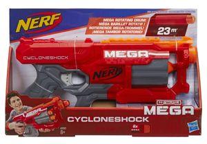 Hasbro A9353 - CycloneShock Schnellfeuer-Spielzeugblaster, mit großen Darts