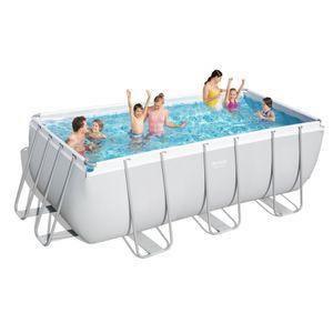 Bestway 56456 Oberirdischer Rechteckiger Pool Power Steel 412x201x122cmGestalten: Rectangular, Maße: 4 - 4,99 m, Höhe (cm): 122, Breite (cm): 201, Länge (cm): 412, Filterpumpe: 58383