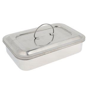 Edelstahl Box mit Deckel - Instrumentenschale - Aufbewahrungsbox, Größe 304 9 Zoll